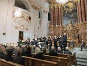 Das Ensemble Corund sorgte in der Jesuitenkirche gleichermassen für Begeisterung und Ergriffenheit. (Bild: Roger Grütter (4. November 2017))