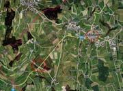 Die Fussgängerin war auf der Strasse zwischen dem Dorf Beromünster und Chommlen unterwegs. (Bild: Mapsearch)