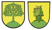 Das Original (links): Das Neuheimer Wappen zeigt eine Linde auf einem Hügel. Es ist erst seit 1942 in Gebrauch, zuvor hatte die jüngste Zuger Gemeinde sich mit dem Kantonswappen mit grossem «N» darin beholfen. Linden sind in der Moränenlandschaft verbreitet – sie sollen den Teufel ärgern. Die Neuinterpretation (rechts): Der Grafiker Angelo Gwerder hat das Neuheimer Wappen humorvoll uminterpretiert und schreibt augenzwinkernd dazu: «Ein grosser Lindenprachtkäfer auf gelbem Grund blickt in eine verheissungsvolle Zukunft. Er steht für die Macht des kleinen Mannes …»