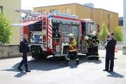 Die Feuerwehr Stadt Luzern rückte zur Klinik St. Anna aus. Glücklicherweise handelte es sich um eine Übung. (Bild: pd)