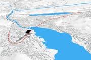 Durchgangsbahnhof Luzern: die geplante Linienführung. (Bild: Visualisierung PD)