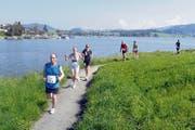 Rund um den Sihlsee laufen 600 Athleten. (Bild: PD)