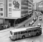 Das waren noch Zeiten: Der Heliomalt-Elefant am Kreuzstutz. (Bild: PD)