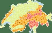 Gefahrenkarte von Meteoschweiz. (Bild: zvg)
