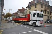 Die 25-Jährige wurde in Alpnach von diesem Lastwagen angefahren. (Bild: Kantonspolizei Obwalden)