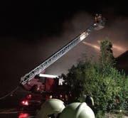 Das Bauernhaus wurde beim Brand komplett zerstört. (Bild: Feuerwehr Pfaffnau-Roggliswil, auf Facebook.com)