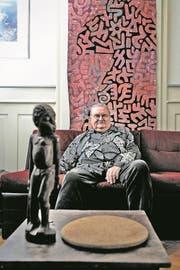 Al Imfeld (1935-2017) in seiner Wohnung in Zürich. (Bild: Nadia Schärli/LZ, 26. Februar 2015)