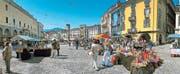 Südliches Flair in Grossformat: Auf Locarnos Piazza Grande ist das ganze Jahr über ständig etwas los.