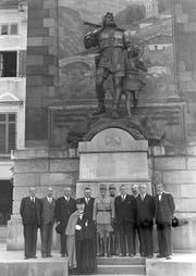 General Guisan stattete am 7. September 1945 der Urner Regierung seinen Abschiedsbesuch ab. (Bild Richard Aschwanden)