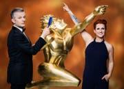 Ab 2012 moderierte Steffi Buchli an der Seite von Rainer Maria Salzgeber die Sportgala «Sports Awards». (Bild: SRF)