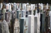 Friedhof Unterdorf in Baar mit Gräbern. (Bild: Stefan Kaiser (ZZ))