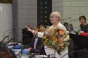 Yvonne Schärli-Gerig richtet ihre Abschiedsworte an den Kantonsrat. (Bild: pd)