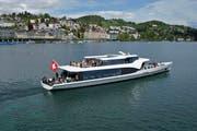 Panorama-Yacht «Saphir» im Luzerner Seebecken. (Bild: PD)