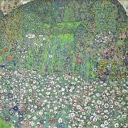 Gustav Klimts Gartenlandschaft mit Bergkuppe aus dem Jahr 1916 (Bild: Stiftung Sammlung Kamm, Zug)