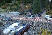 Die Bauarbeiten beim Kraftwerk Bristen sind gestartet. (Bild: PD)