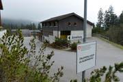 Hier im Truppenlager auf dem Glaubenberg wird ein neues Bundesasylzentrum gebaut. (Bild Dominik Wunderli)