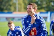 Christian Schneuwly im Training mit dem FC Luzern. (Bild: Martin Meienberger)