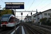 Der Bahnhof Hergiswil ist zur Zeit nur beschränkt befahrbar. (Archivbild Geri Wyss/Neue NZ)