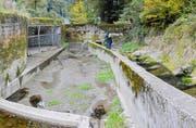 Würzenbach: Ist-Zustand des Einlaufbauwerks in den Entlastungsstollen, Oktober 2016. (Bild: PD)