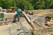 Ab 2018 wird das Wasser vom Schacht an der Zumhofstrasse zum neuen Quellwasserwerk geführt. (Bild: PD)