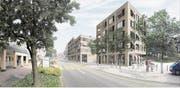 Die Pläne der Luzerner Architekten ro.ma Roeoesli & Maeder GmbH zeigen, wie das neue Zentrum dereinst aussehen soll. (Bild: Visualisierung PD)