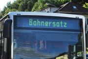 Reisende zwischen Hergiswil und Alpnachstad werden an den Abenden von der Zentralbahn auf den Bus umsteigen müssen. (Symbolbild Corinne Glanzmann / Neue LZ)