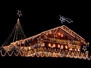 Vielfältige Weihnachtsbeleuchtung auf der Honig in Ruswil. (Bild: Josef Lustenberger)