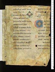 Fragment des Psalterium Gallicanum aus der Stiftsbibliothek St. Gallen. (Bild: Fragmentarium)