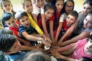 Ausländische und Schweizer Kinder aus dem Meierhöfli-Quartier nahmen letzte Woche an einem Integrationsprojekt teil. (Bild Nadia Schärli)