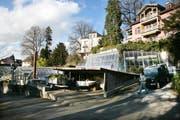 Blick auf die Stadtgärtnerei an ihrem jetzigen Standort im Wettsteinpark. (Bild Manuela Jans/Neue LZ)