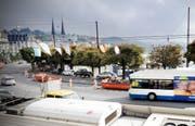 Die Baustelle entlang dem Schweizerhofquai. (Bild Pius Amrein/Neue LZ)