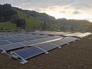 Die neue Solaranlage auf dem Dach des Altersheim Sunnematte in Escholzmatt. (Bild: PD)