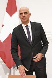 Staatsmännisch trotz Niederlage: Bundesrat Alain Berset. (Bild: Peter Schneider/Keystone)