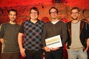 Signal! - Beromünster sendet wieder (von links): David Grottschreiber, Lukas Frei, Peter Zihlmann, Silas Kreienbühl (Bild: PD)