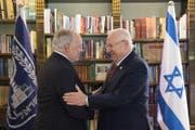 Treffen mit dem israelischen Staatspräsidenten Reuven Rivlin. (Bild: Anthony Anex / Keystone)