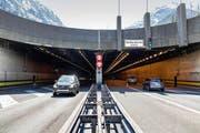 Nordportal des Gotthard-Strassentunnels. (Bild: Keystone / Gaetan Bally)