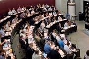 Blick in den Kantonsratssaal (Bild: Pius Amrein)