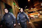 Eine Patrouille der Luzerner Polizei aud der Baselstrasse in Luzern. (Bild Pius Amrein/Neue LZ)