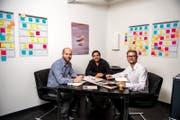 Die drei Gründer des Startup Avantyard. (Bild: Roger Grütter / LZ)