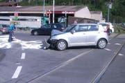 Die Unfallstelle in Schattdorf. (Bild Kantonspolizei Uri)