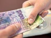 Die Geberkantone werden mit den im Juni von den eidgenössischen Räten beschlossenen Änderungen am Finanzausgleich um 67 Millionen Franken entlastet. (Symbolbild) (Bild: Martin Rütschi(Kesystone)