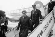 Swetlana Allilujewa, die Tochter Stalins, bei ihrer Ankunft in der Schweiz. (Bild: AP (Genf, 11. März 1967))