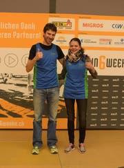 Linus Fischer und Karin Peter (Bild: PD)