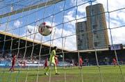 Die Swissporarena wird Schauplatz des Cuphits zwischen dem SC Kriens und dem FC Luzern. (Bild: Philipp Schmidli (Luzern, 21. August 2016))