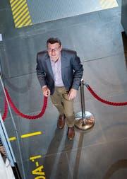 Der neue Direktor Christoph Lichtin (50) im Historischen Museum. (Bild: Dominik Wunderli)