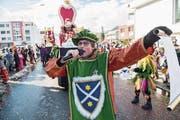 Die Mausohren stellen die Gemeinderäte als Könige dar. (Bild: Dominik Wunderli (Malters, 12. Februar 2018))