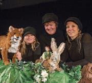 Nathalie Hildebrand (links), Marianne Hofer und Regula Auf der Maur vom Theater Petruschka. (Bild: Dominik Wunderli (Luzern, 2. Dezember 2017))