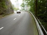 Nicht überall ist die Bürgenstockstrasse so breit wie an dieser Stelle. (Bild PD/Archiv)