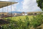 Aufbau der Arena am letzten Montag. (Bild: PD)