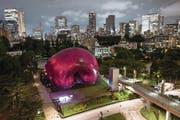 Noch steht die mobile Konzerthalle Art Nova in Tokio. Das Lucerne Festival Orchestra hat im Rahmen einer Asien-Reise dort gespielt. Es ist sogar denkbar, dass diese aufblasbare Halle zeitweilig nach Luzern verschoben wird. (Bild: Lucerne Festival/Geoffroy Schied)